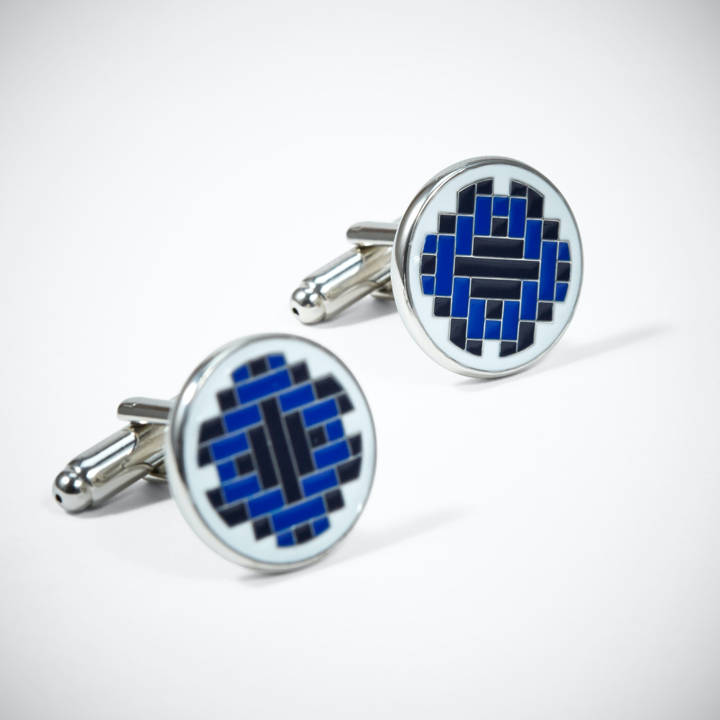 Blue Tile Cufflinks