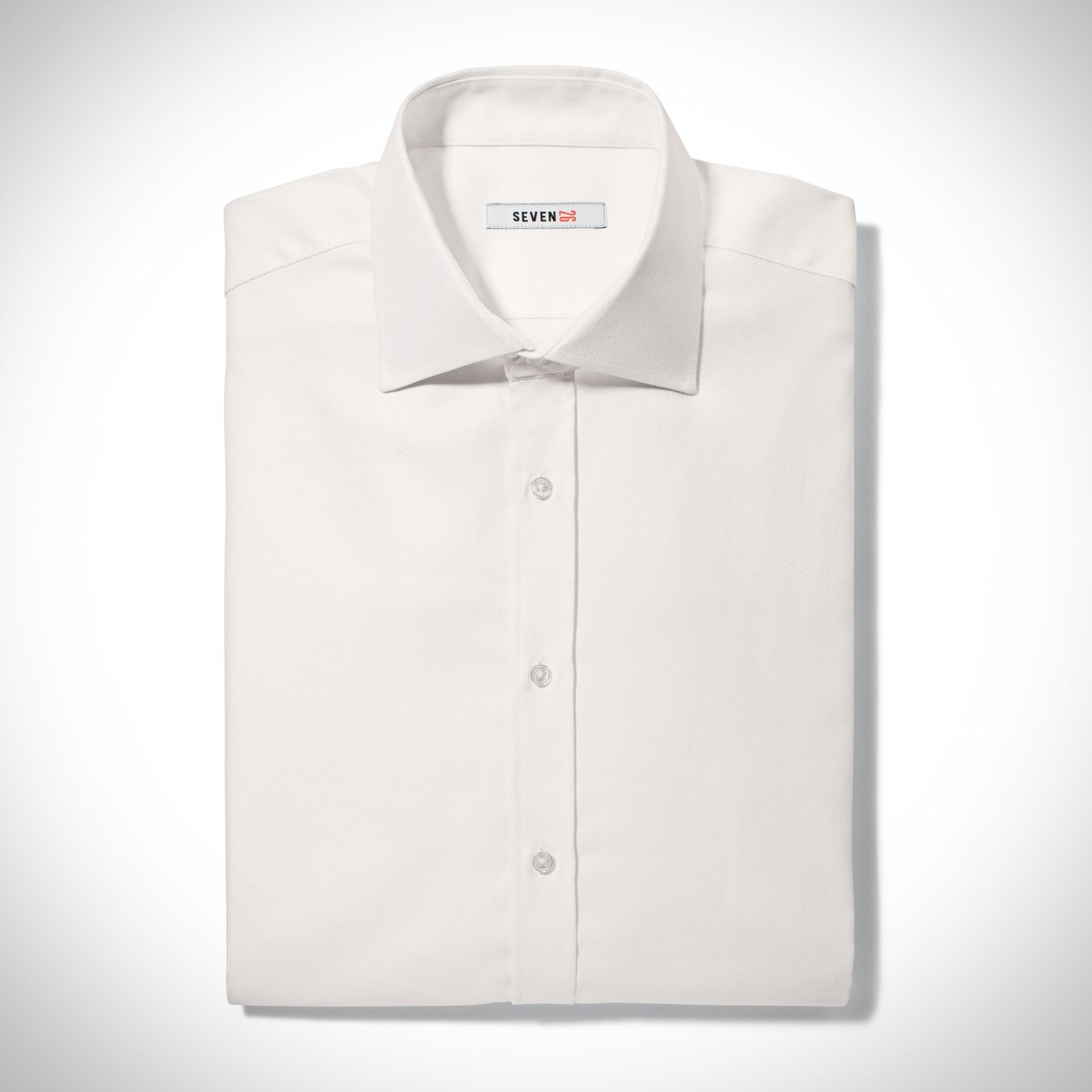 Ivory Twill Spread Collar Shirt