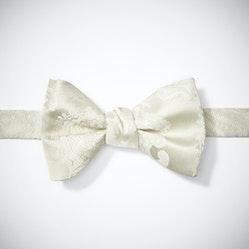 Ivory Paisley Pre-Tied Bow Tie
