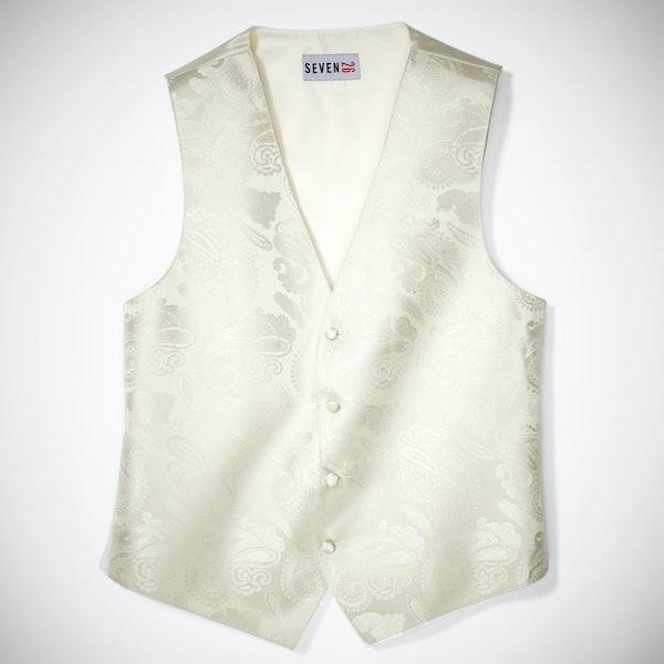 Ivory Paisley Vest