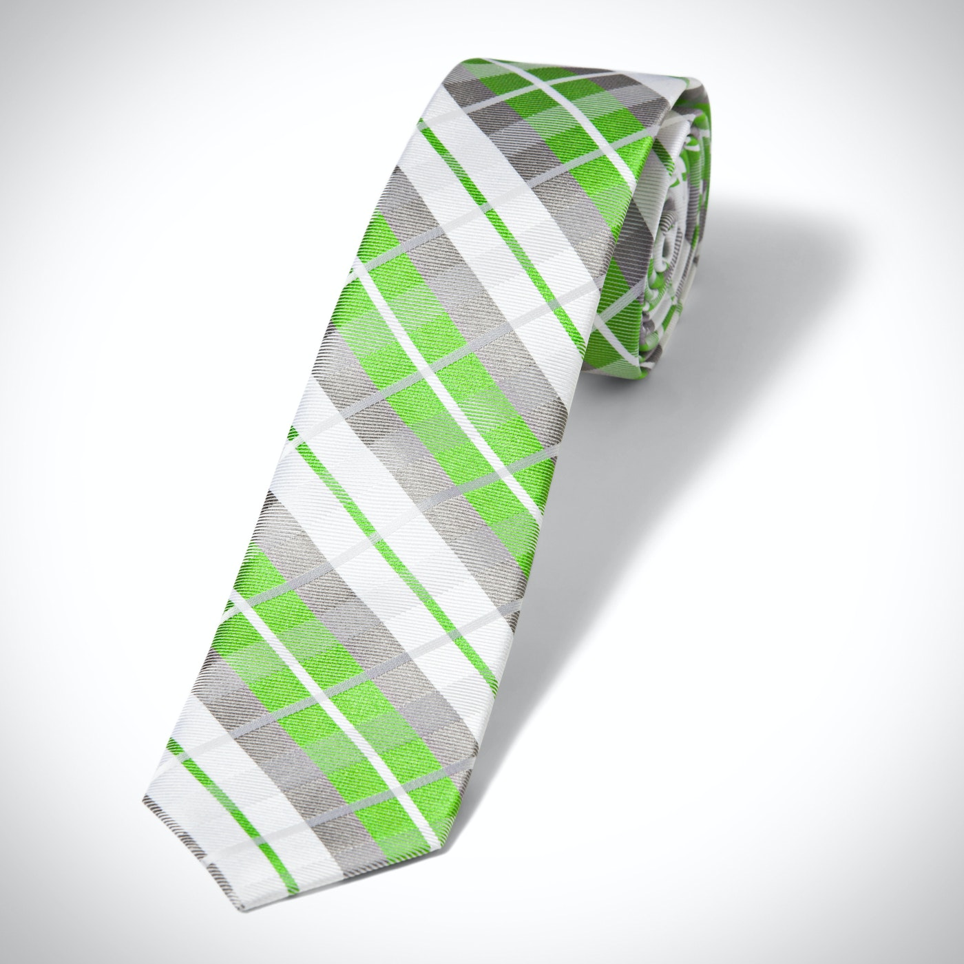 Kelly Green Oversized Plaid Tie