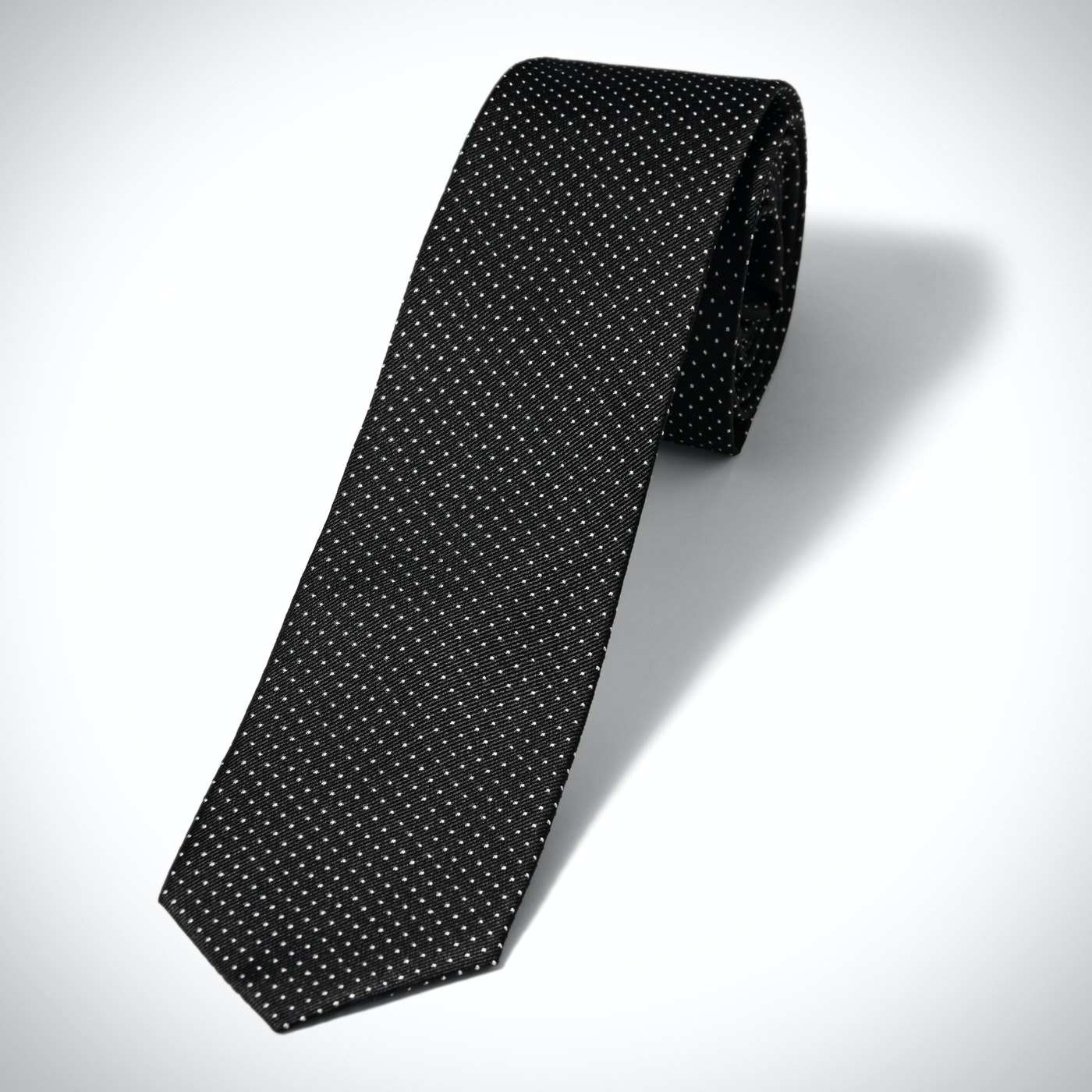 Black and White Pin Dot Tie