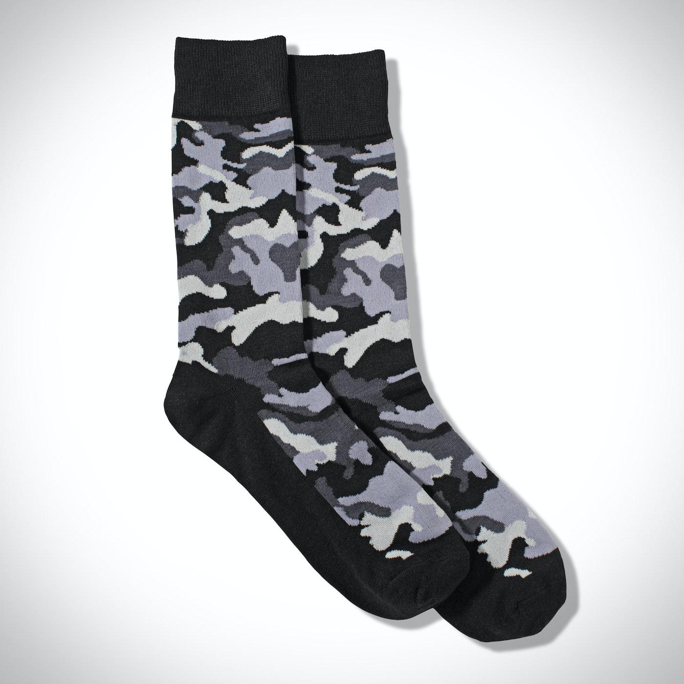 Gray Camo Socks