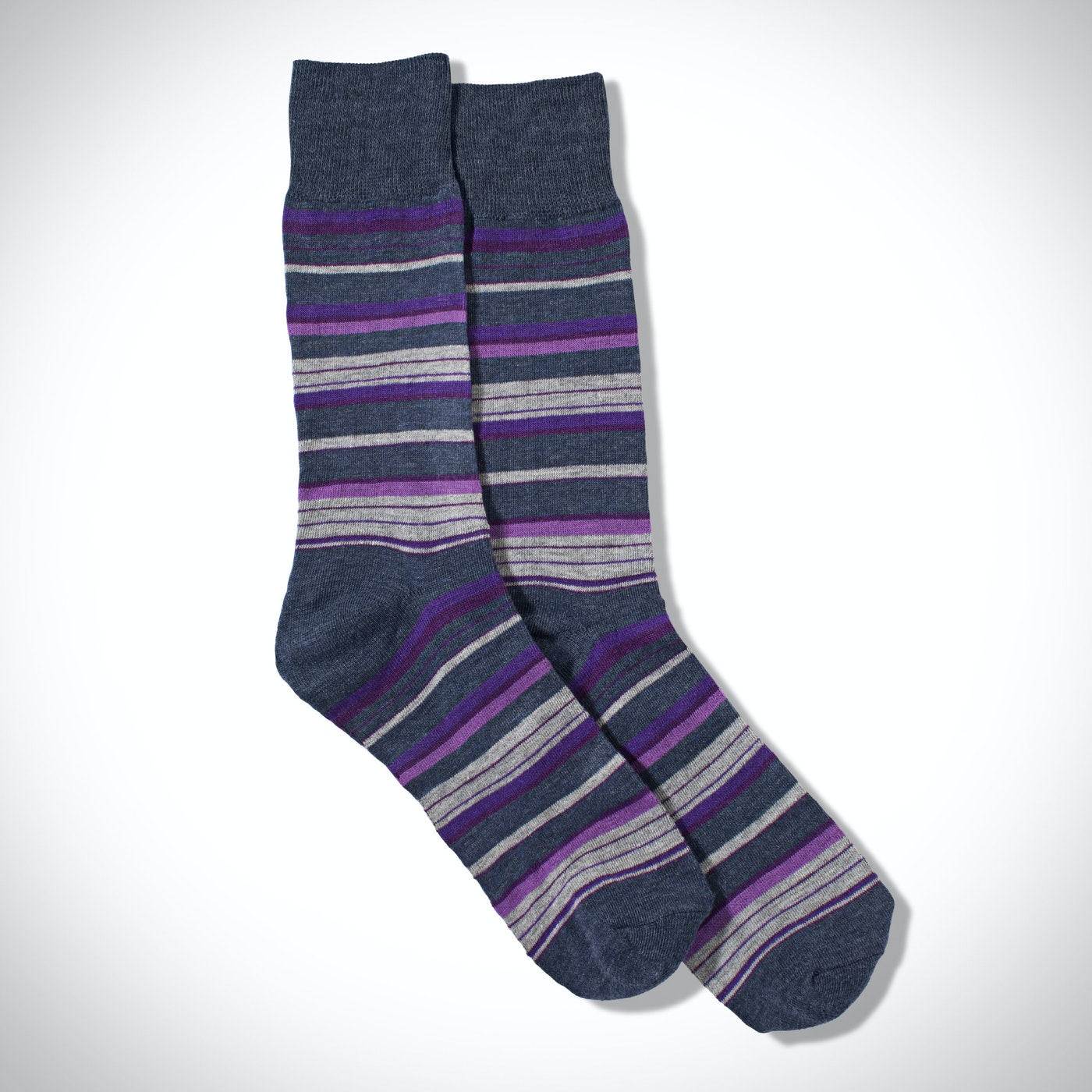 Purple Micro Stripe Socks