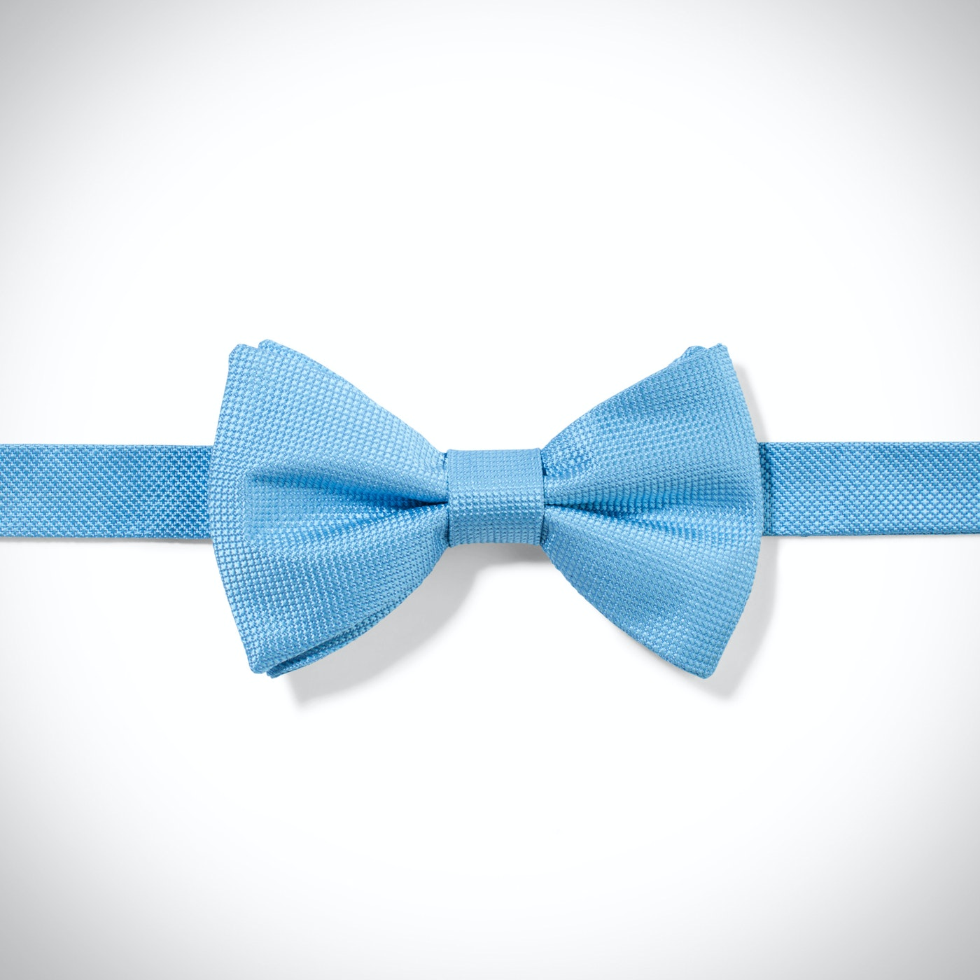Glacier Blue Textured Micro Square Pre-Tied Bow Tie