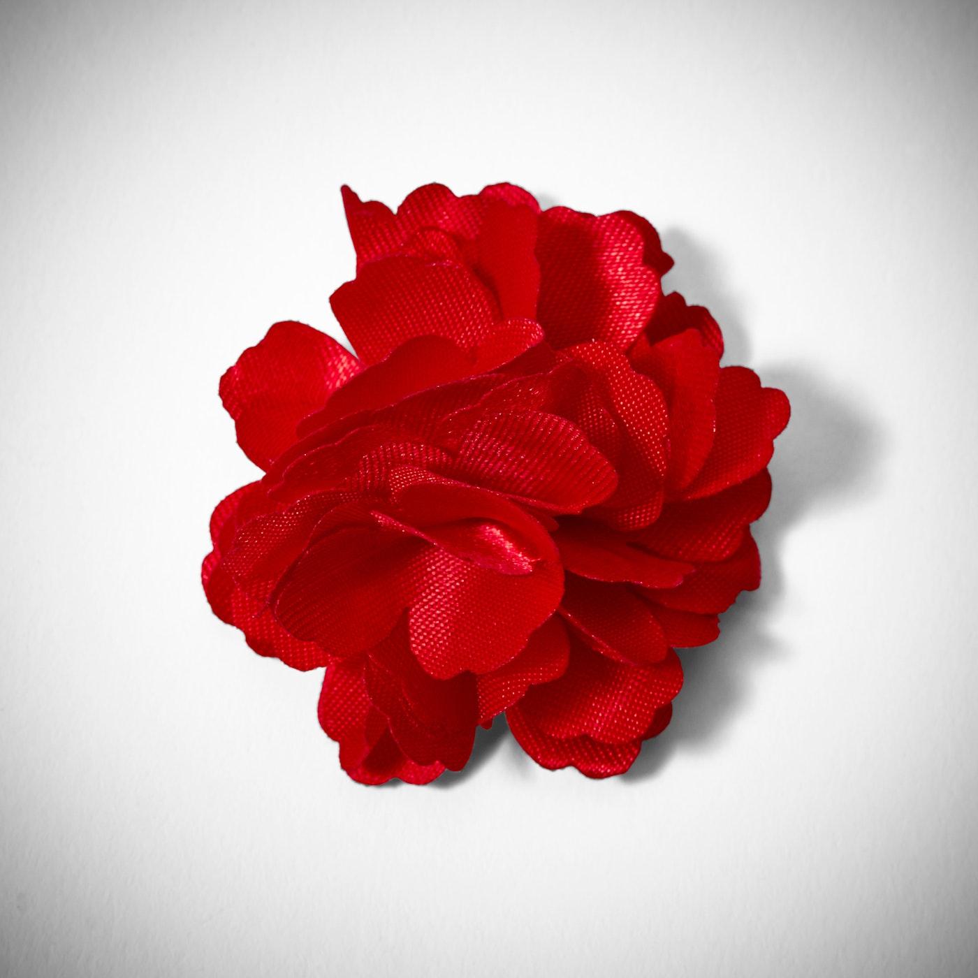 Ruby Carnation Lapel Pin