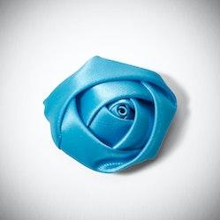 Aqua Rose Lapel Pin