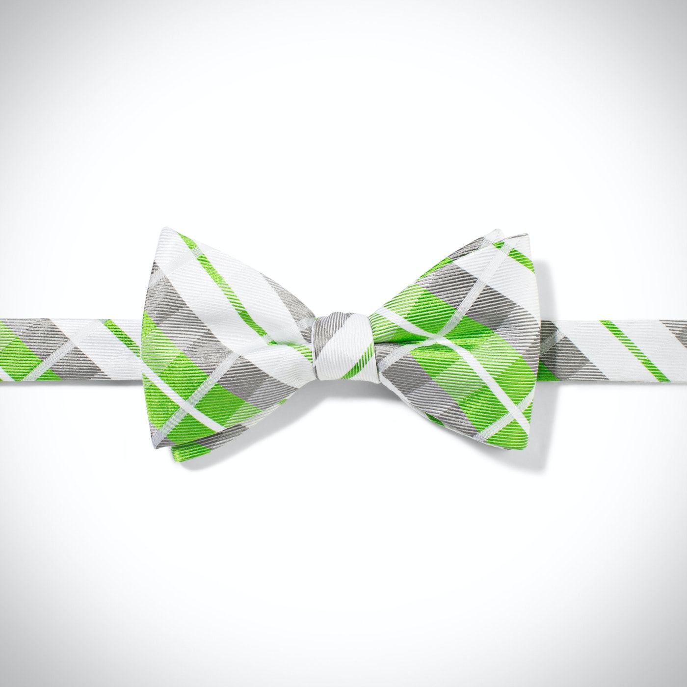 Kelly Green Oversized Plaid Pre-Tied Bow Tie