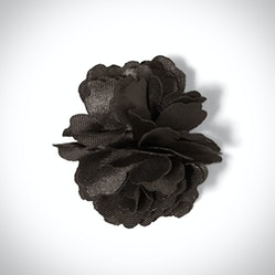 Charcoal Carnation Lapel Pin