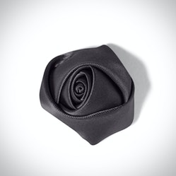 Charcoal Rose Lapel Pin