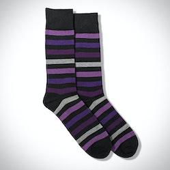 Purple Multi Color Wide Stripe Socks