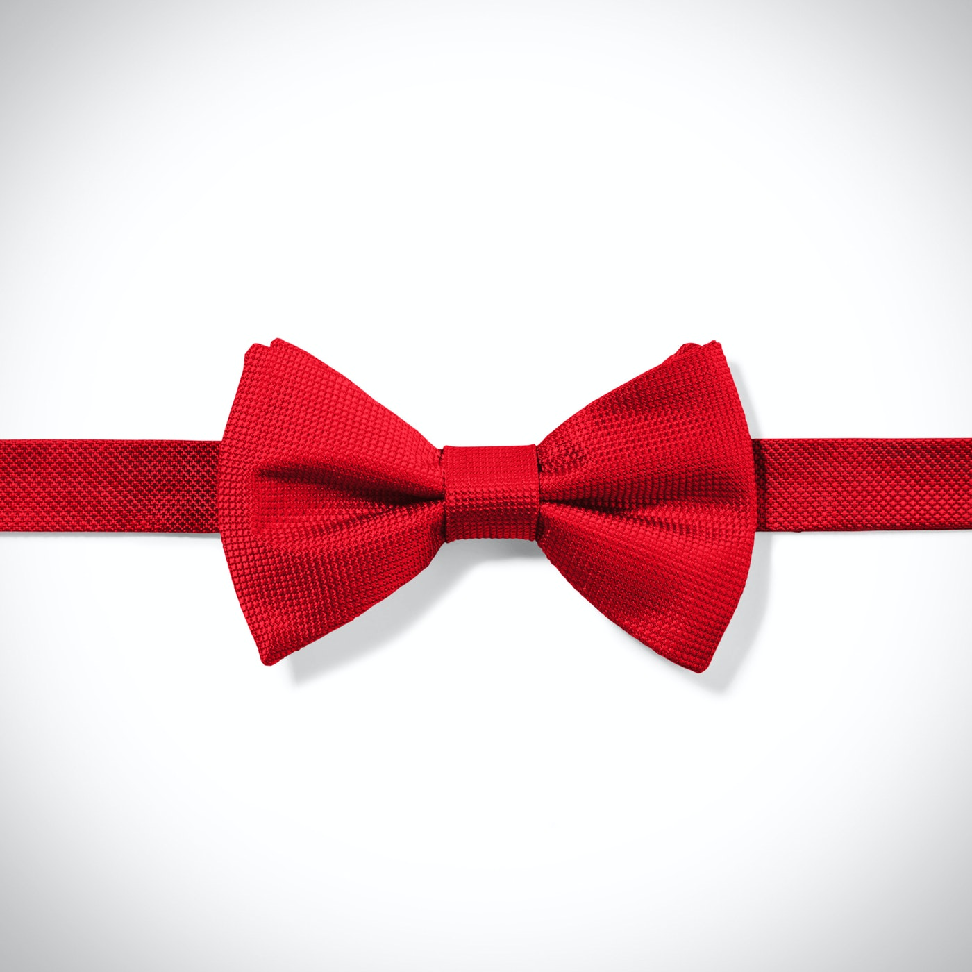 Red Textured Micro Square Pre-Tied Bow Tie