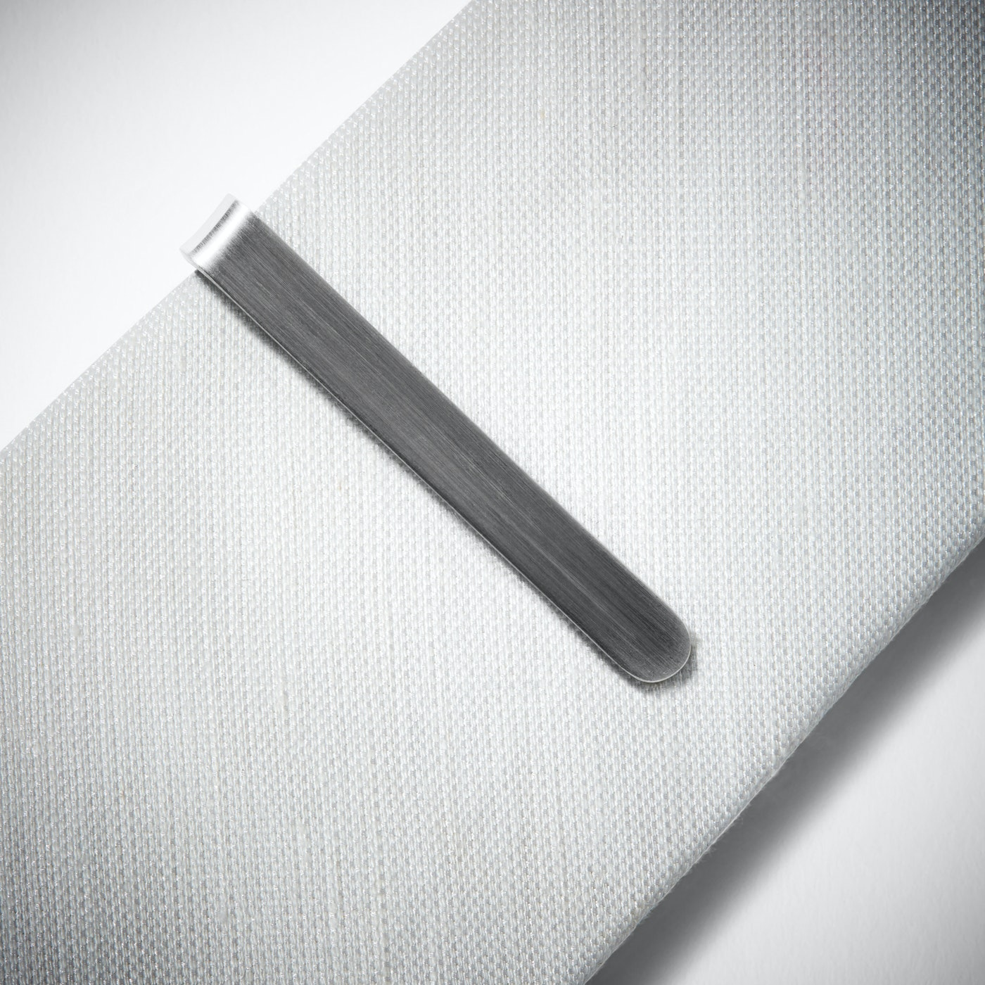 Brushed Silver Tie Bar