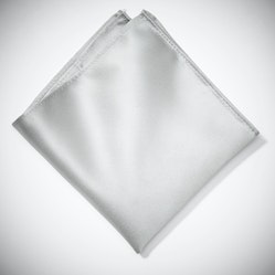 Platinum Pocket Square