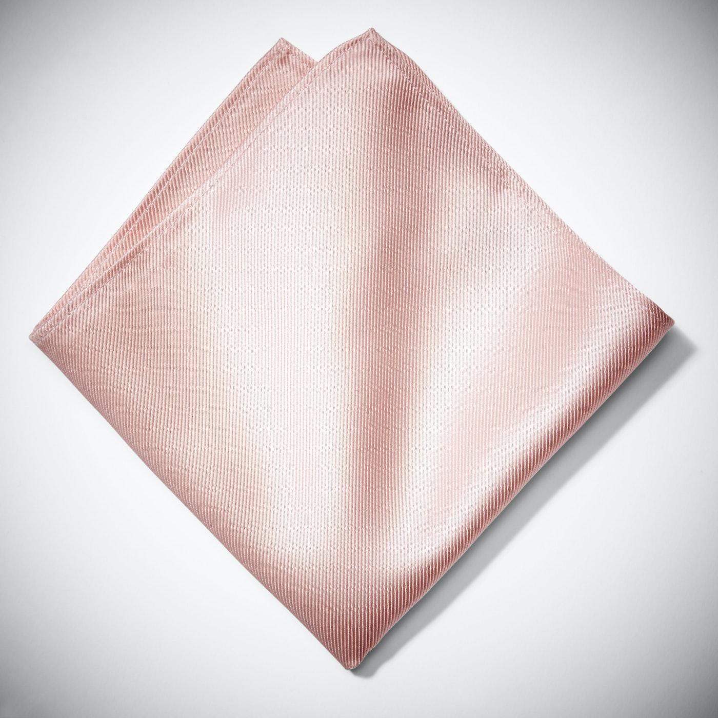 Blush Satin Pocket Square
