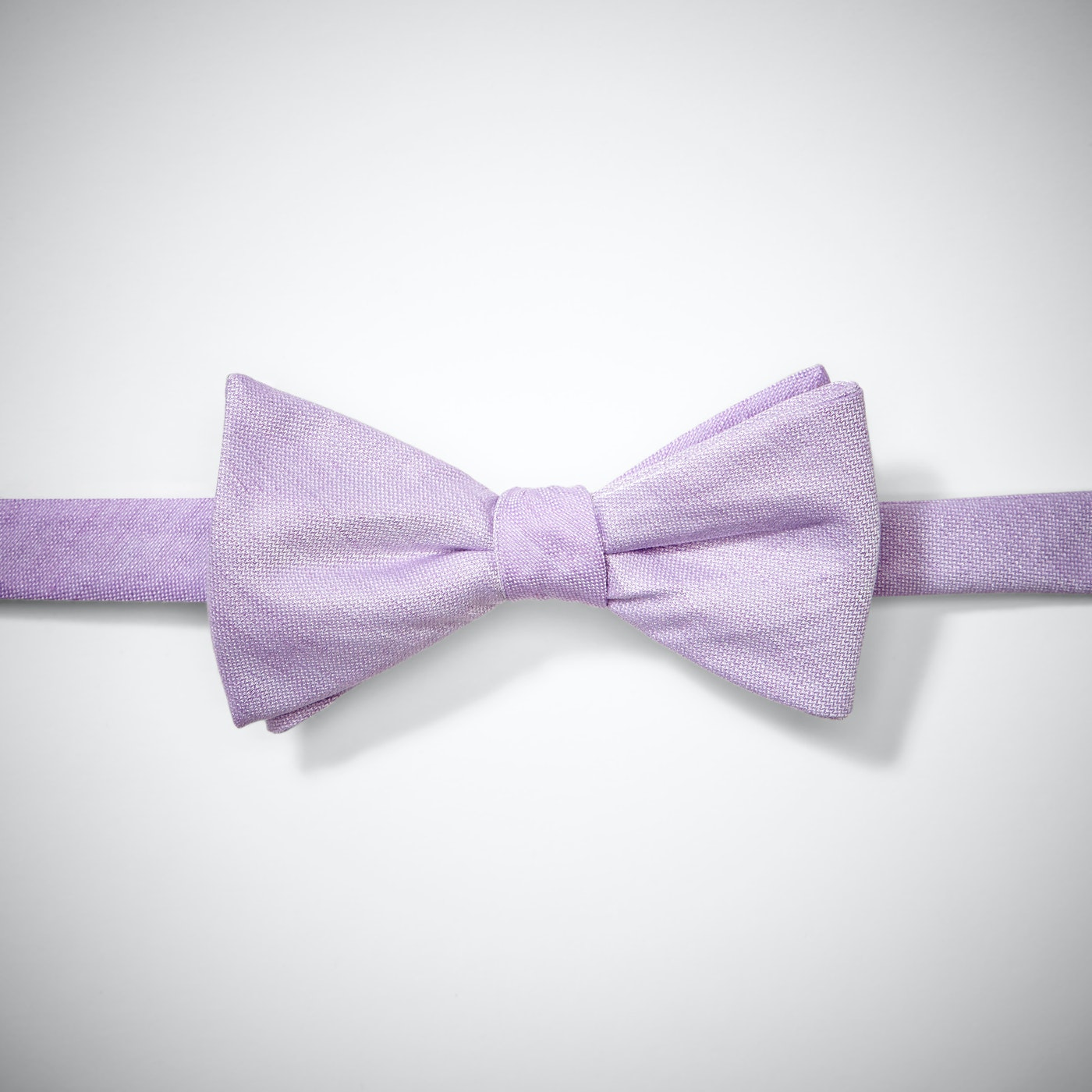 Lilac Linen Pre-Tied Bow Tie