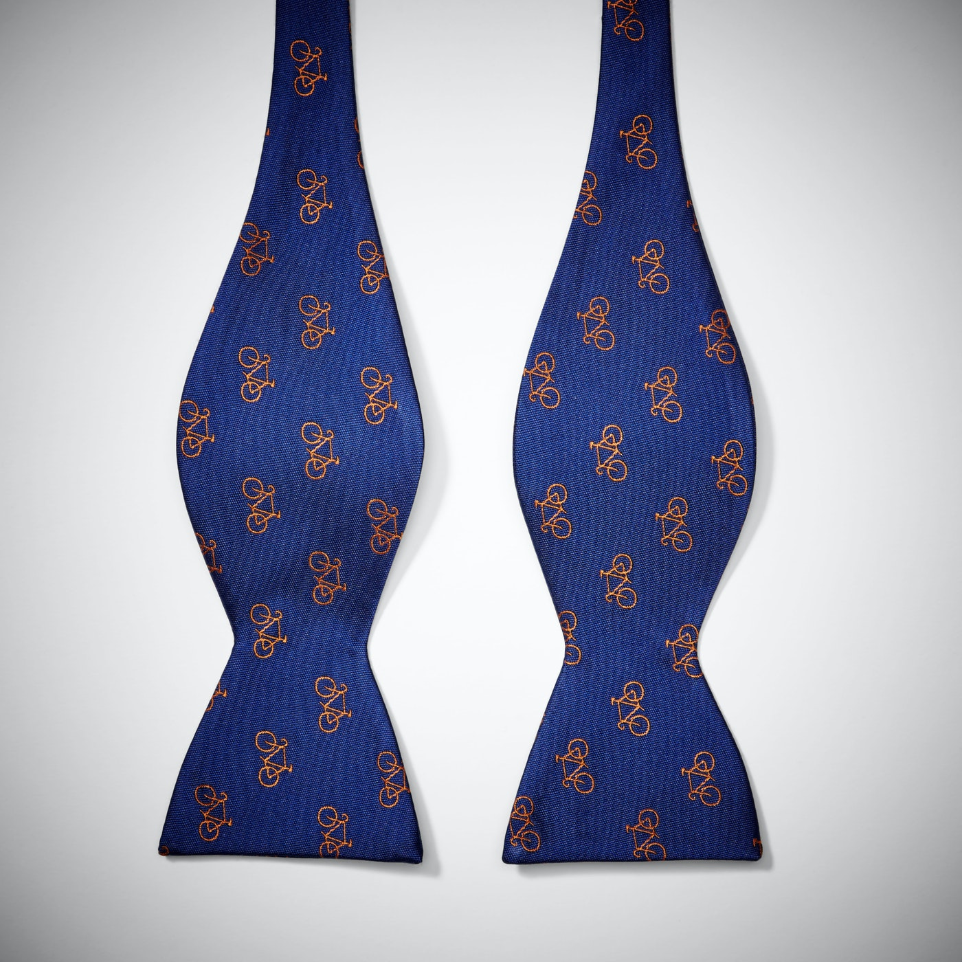 Blue Bicycle Bow Tie