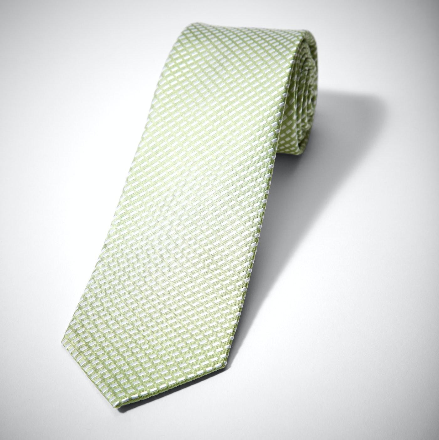 Green Diagonal Dobby Tie