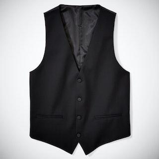 Slim Black Tailored Tux Vest