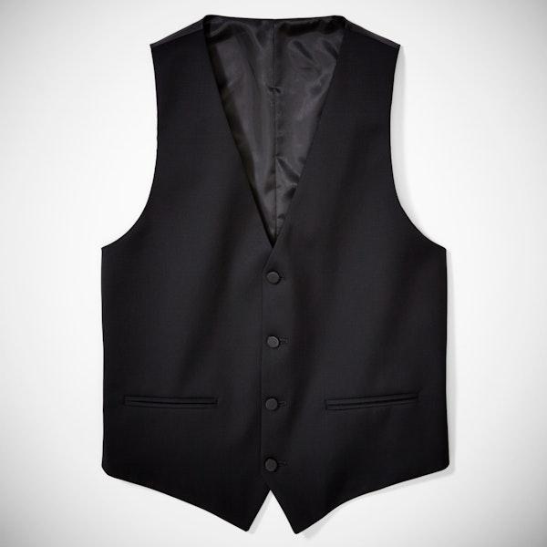 Black Tailored Tux Vest
