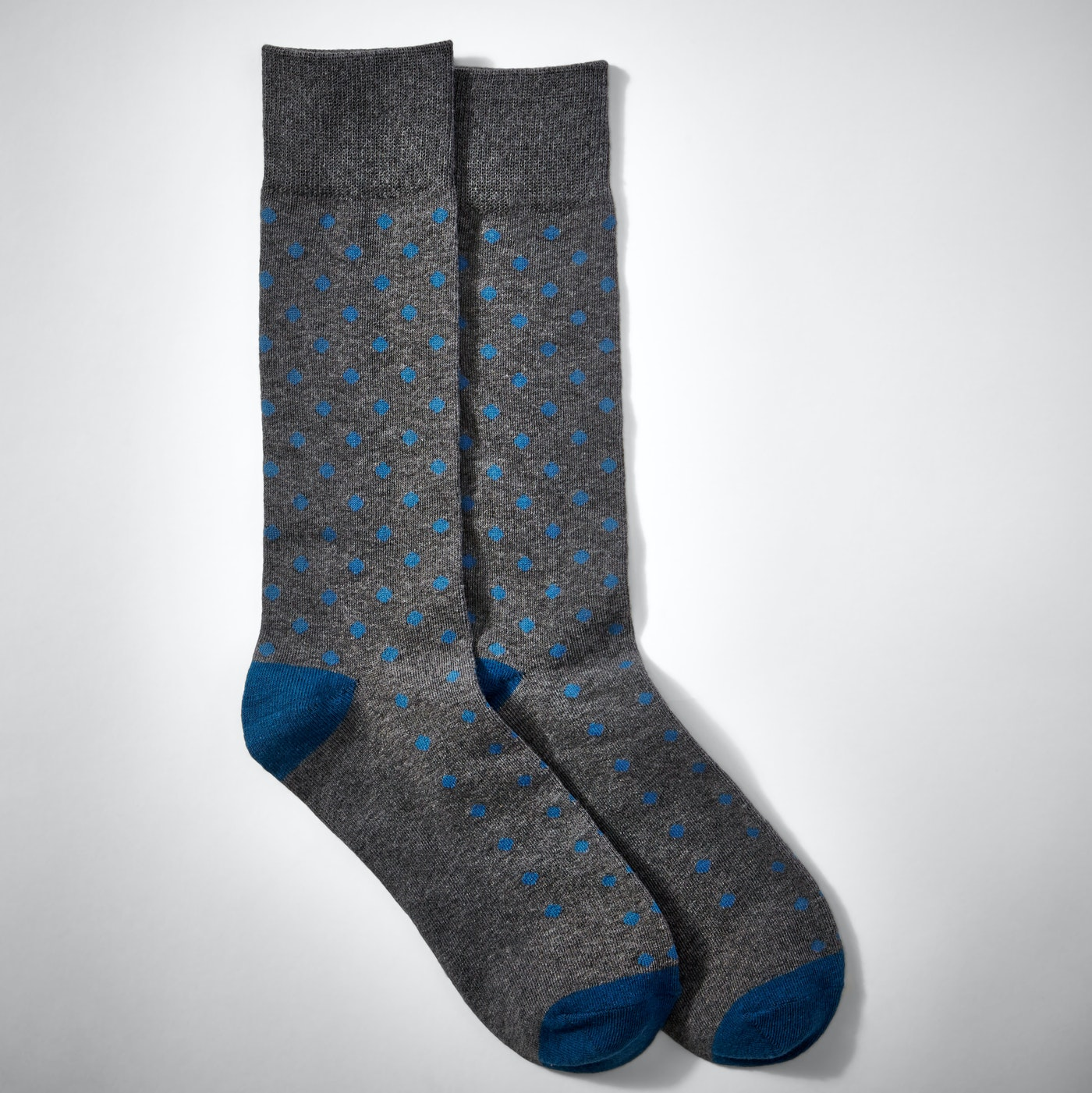 Blue Pin Dot Socks