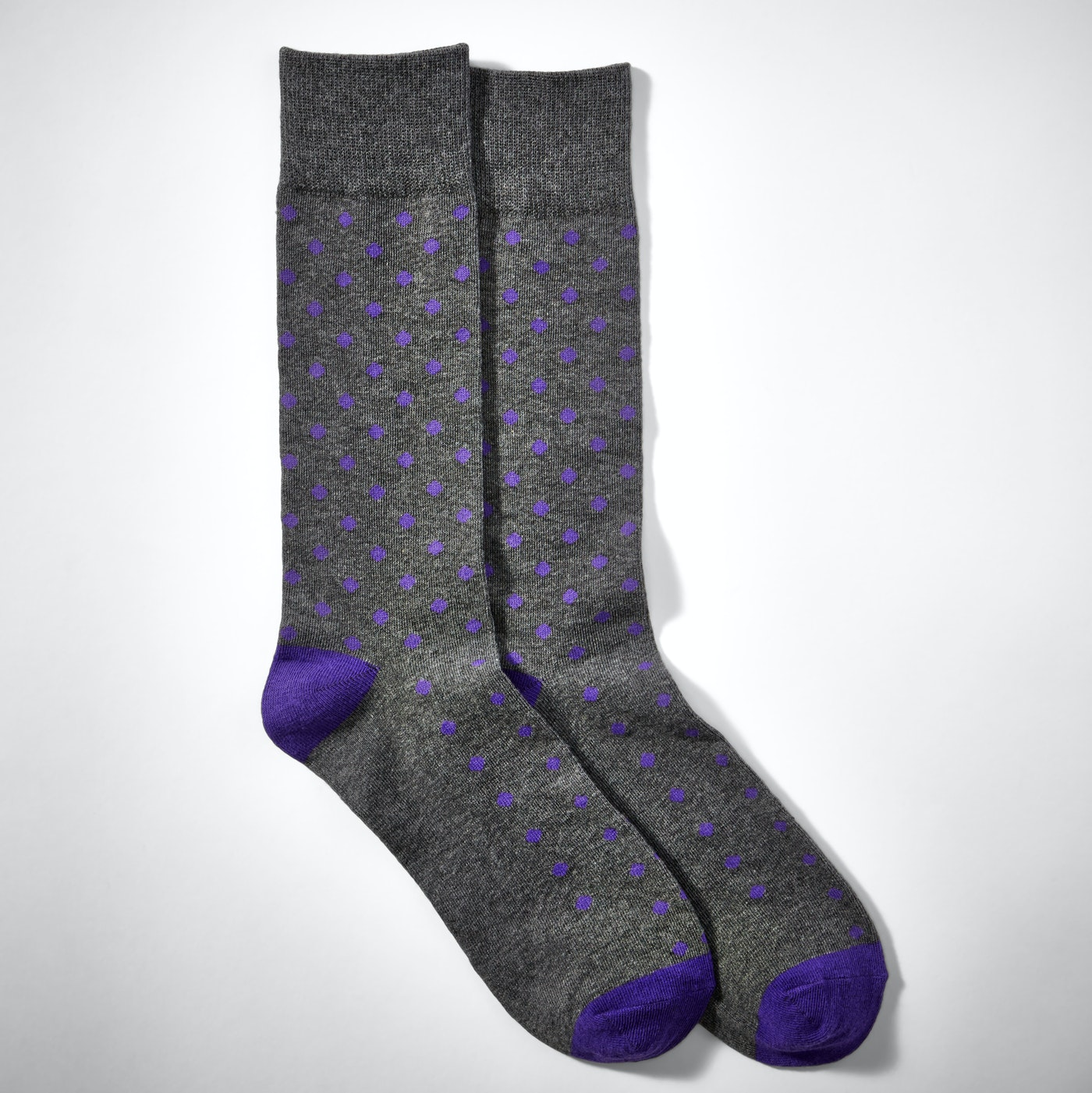 Royal Purple Pin Dot Socks