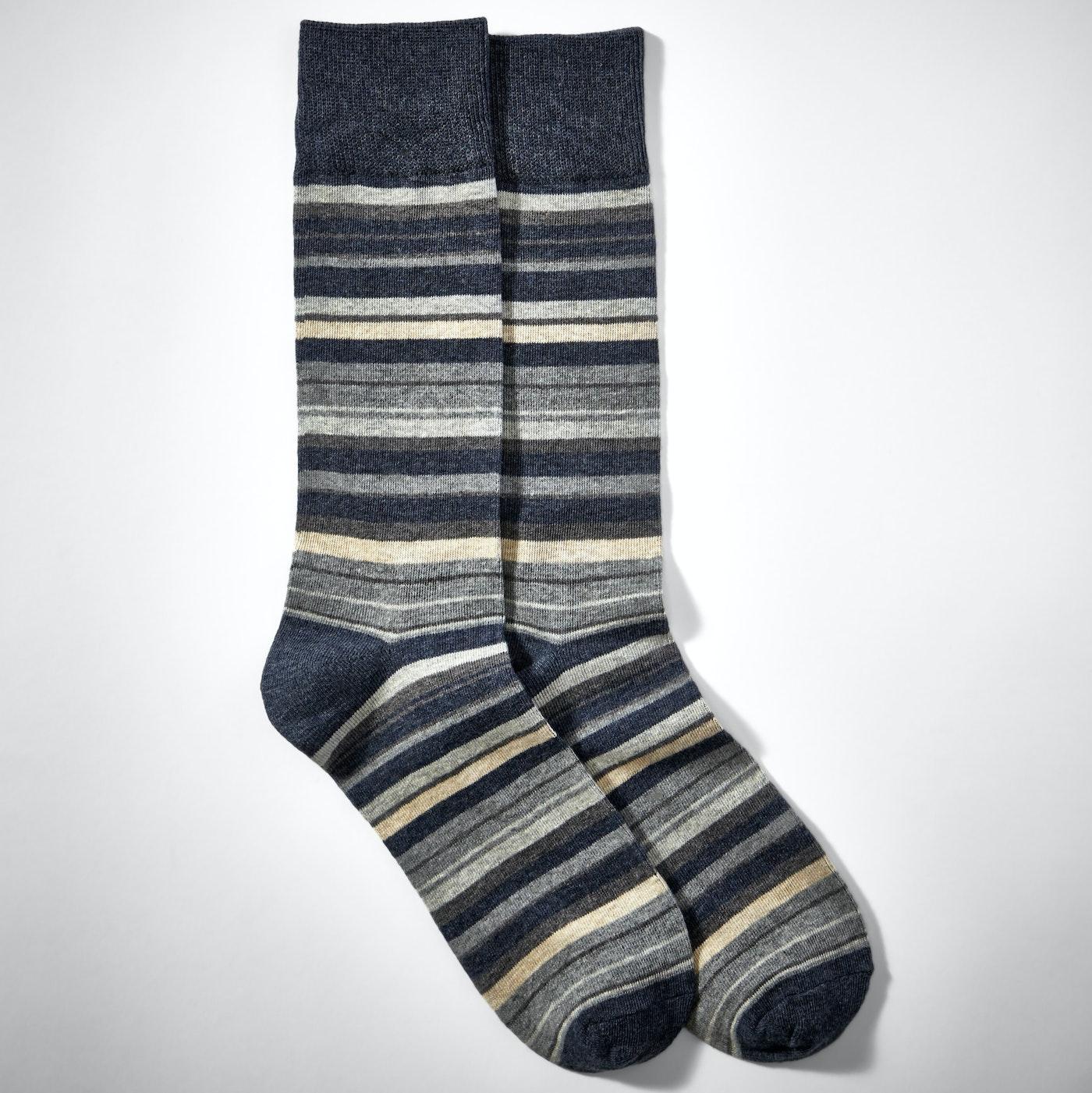 Gray Micro Stripe Socks