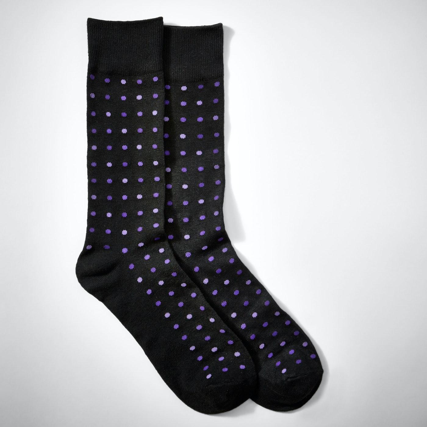 Purple Multi Shade Pin Dot Socks