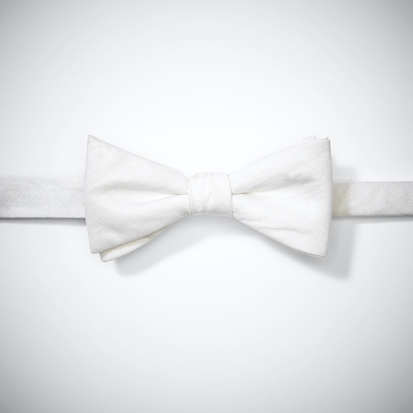 Ivory Linen Pre-Tied Bow Tie