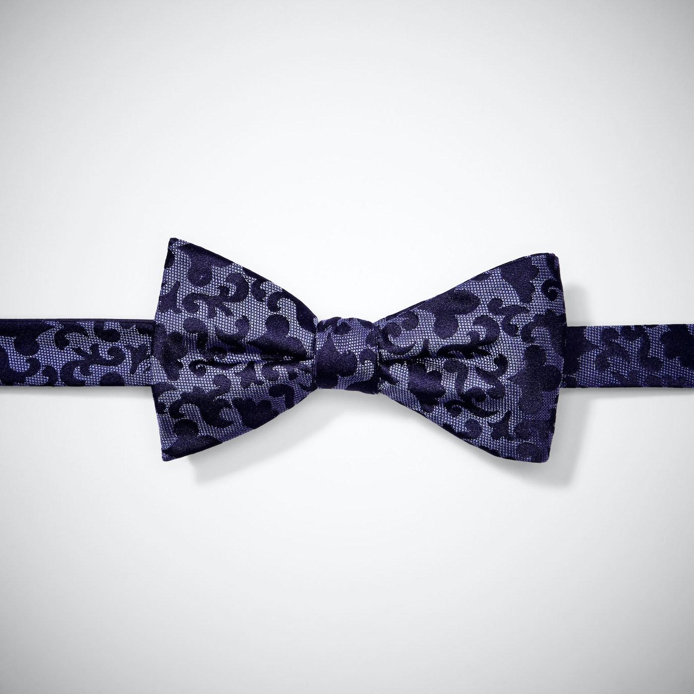 Purple Vintage Brocade Pre-Tied Bow Tie
