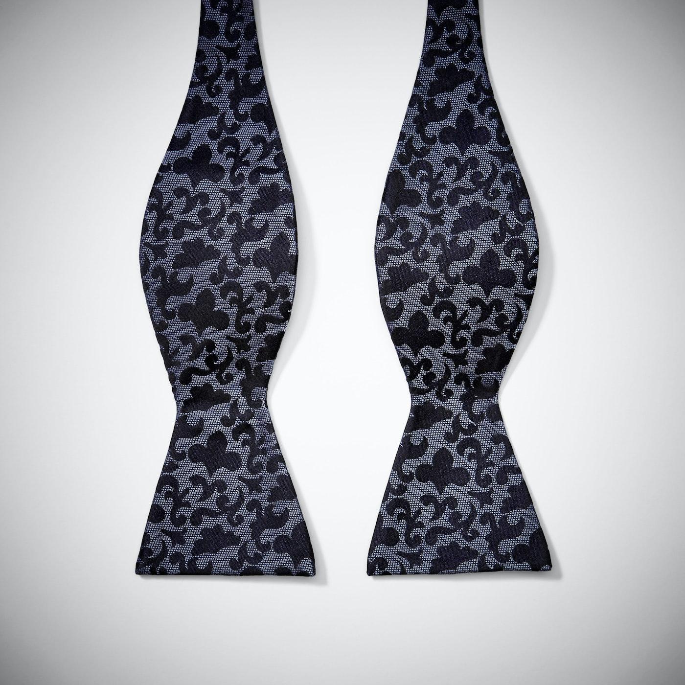 Purple Vintage Brocade Bow Tie