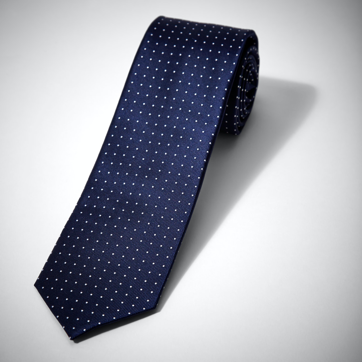 Blue and White Pin Dot Tie