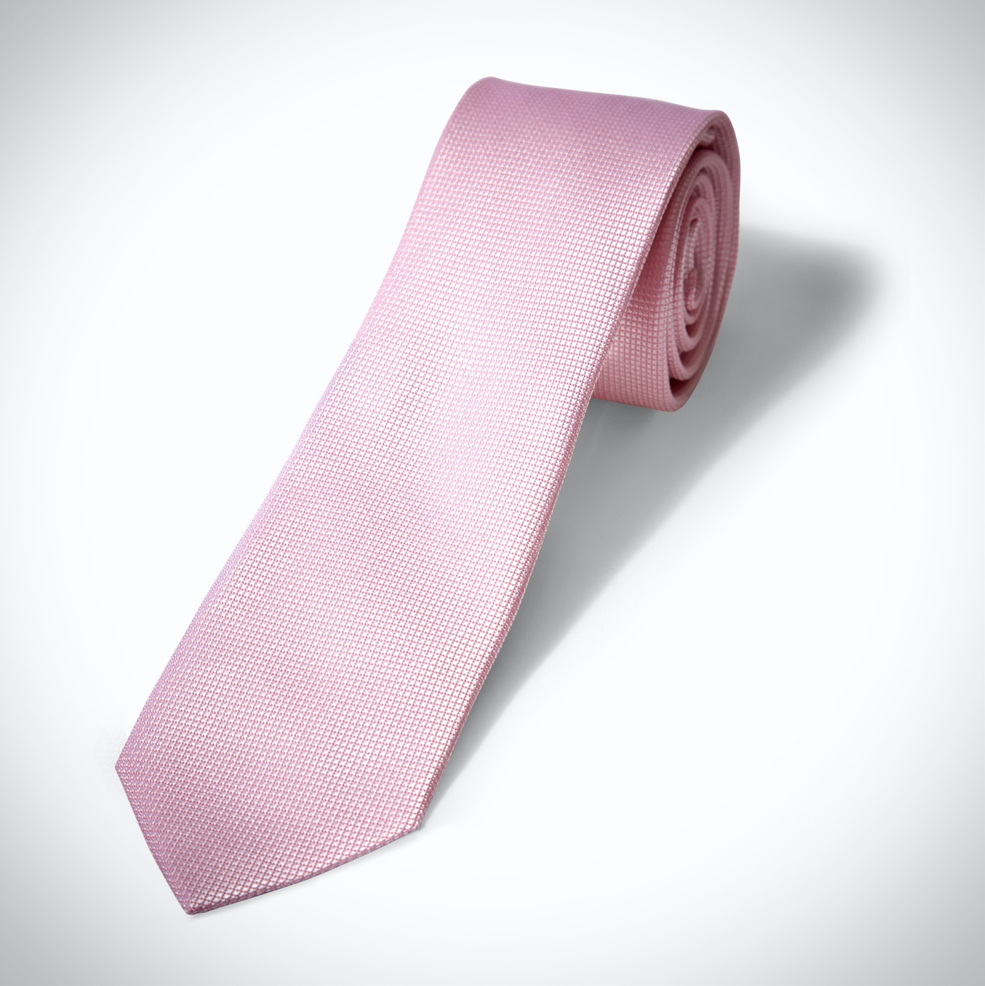 Pink Textured Micro Square Tie
