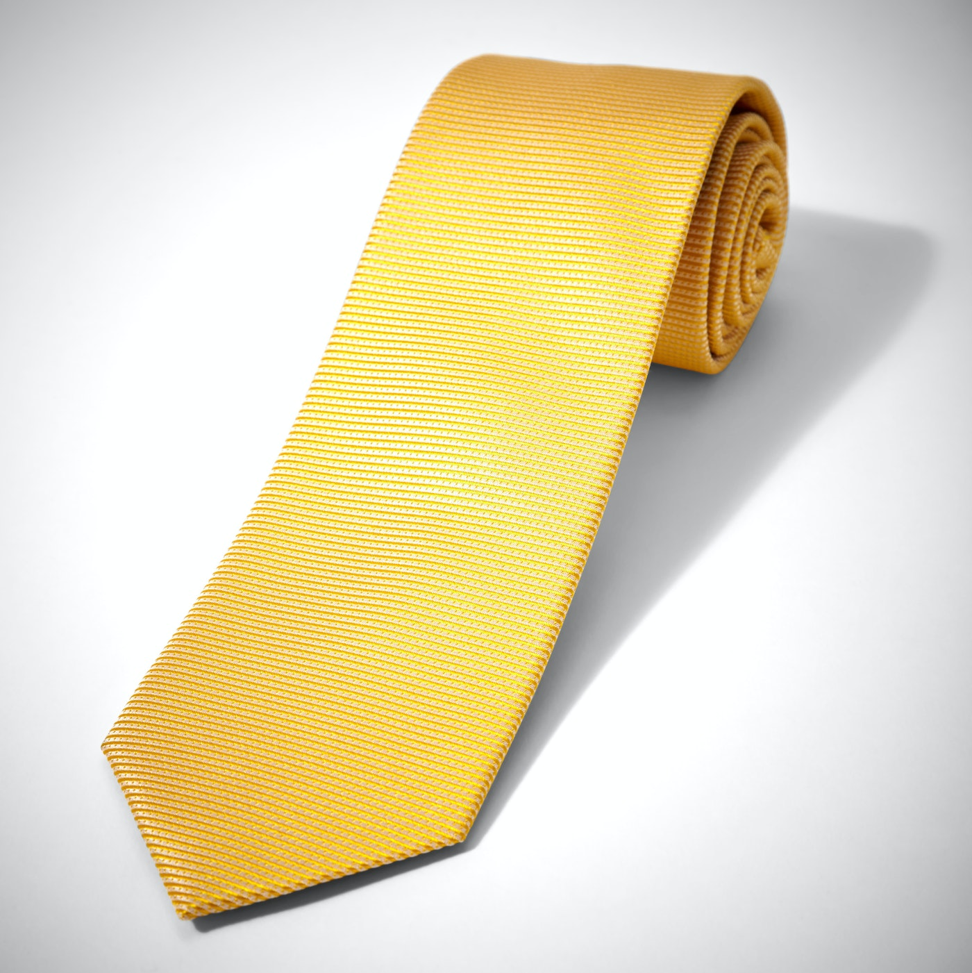 Iridescent Yellow Dobby Tie