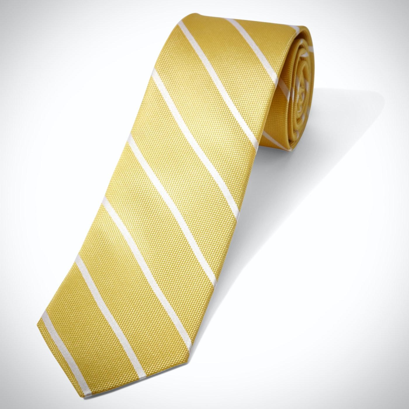 Yellow Thin Stripe Tie