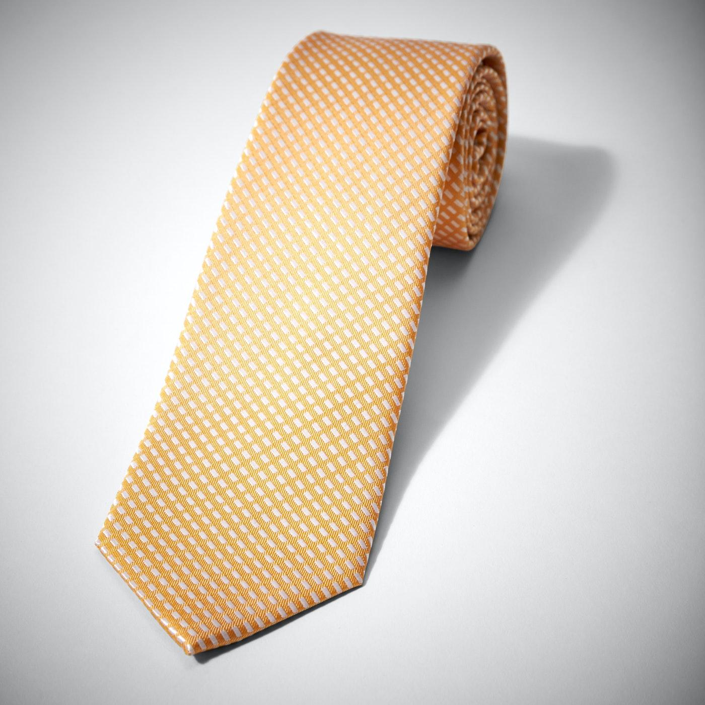 Yellow Diagonal Dobby Tie