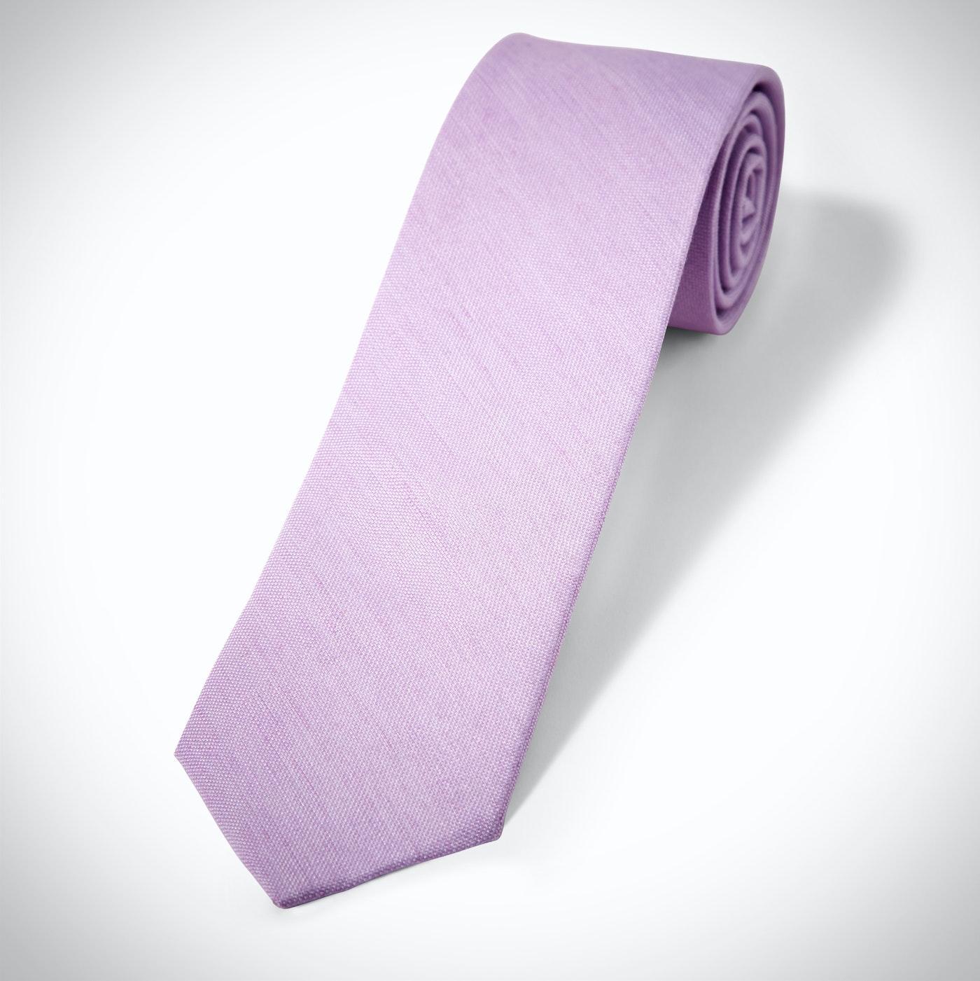 Lilac Linen Tie