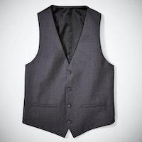 Slim Charcoal Tux Vest