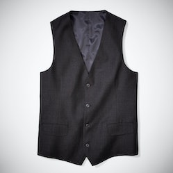 Charcoal Gray Tailored Suit Vest