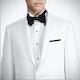White Shawl Lapel Tuxedo: Look 1