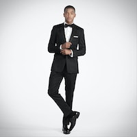 Slim Black Notch Lapel Tux