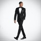 Slim Black Notch Lapel Tux: Look 1