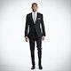 Slim Black Notch Lapel Tux: Look 4