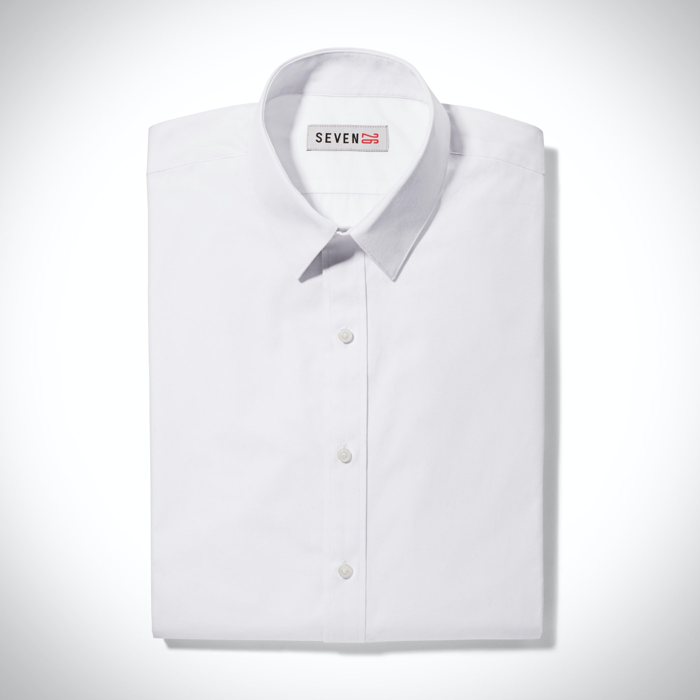 Slim Pointed Collar White Shirt