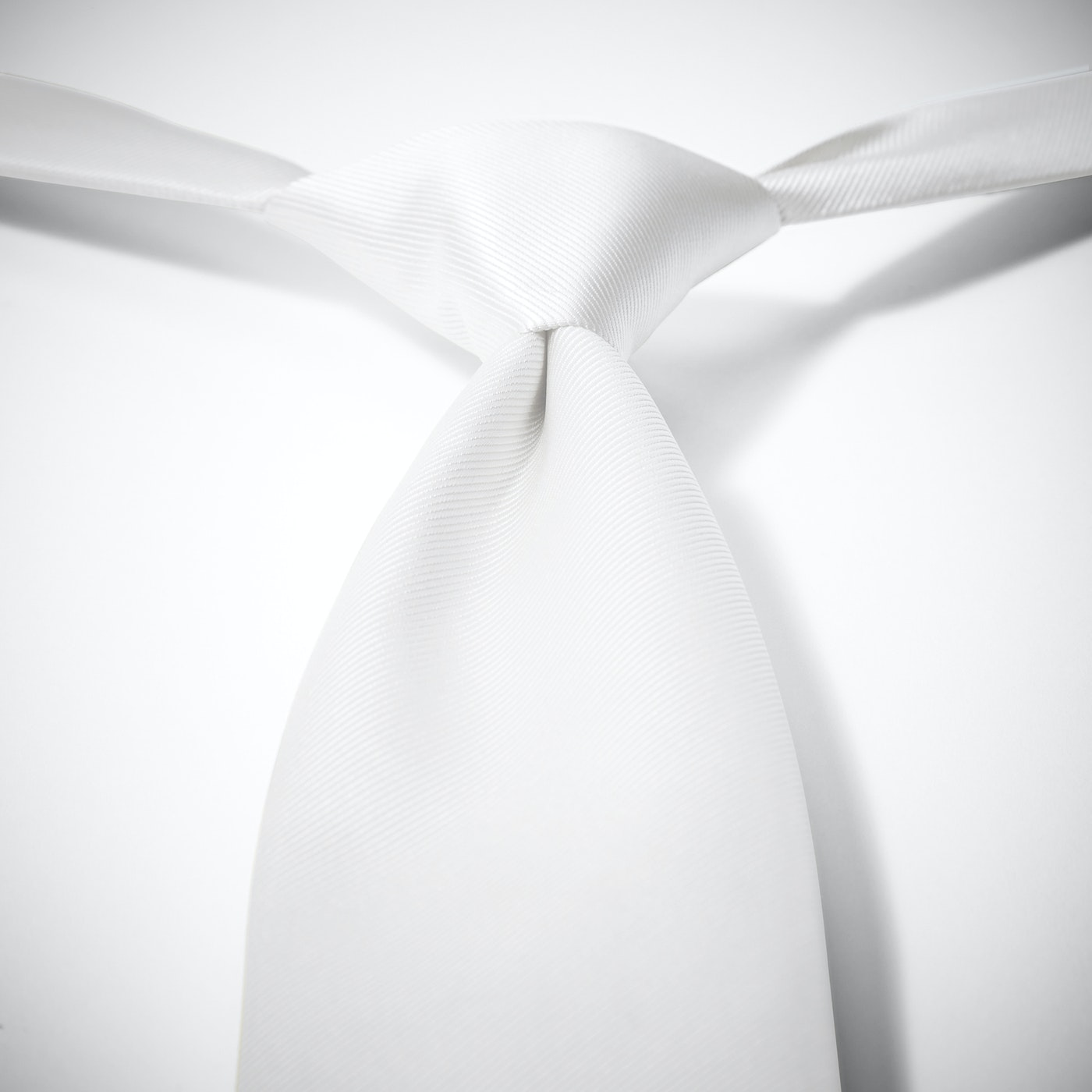 White Pre-Tied Tie