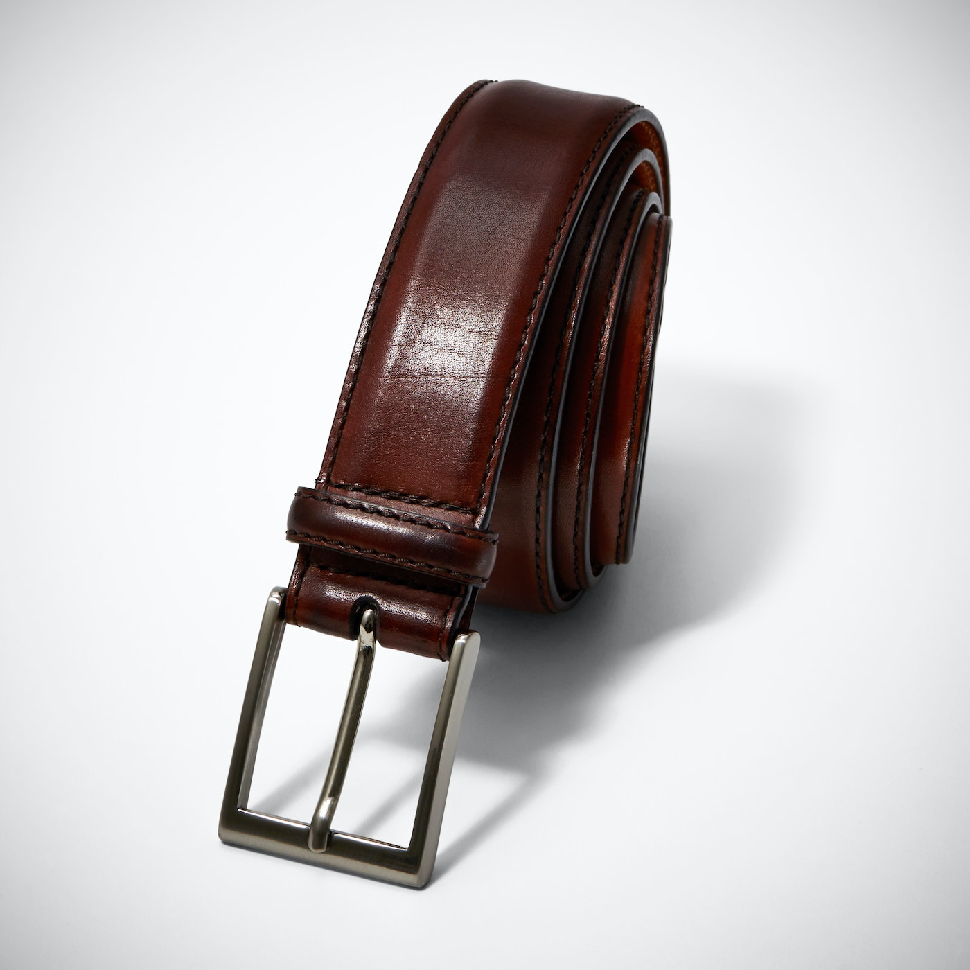 Brown Belt with Silver Buckle