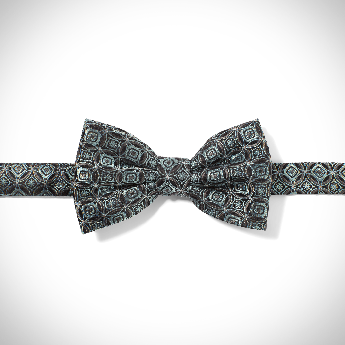 Mint Circle Pre-Tied Bow Tie