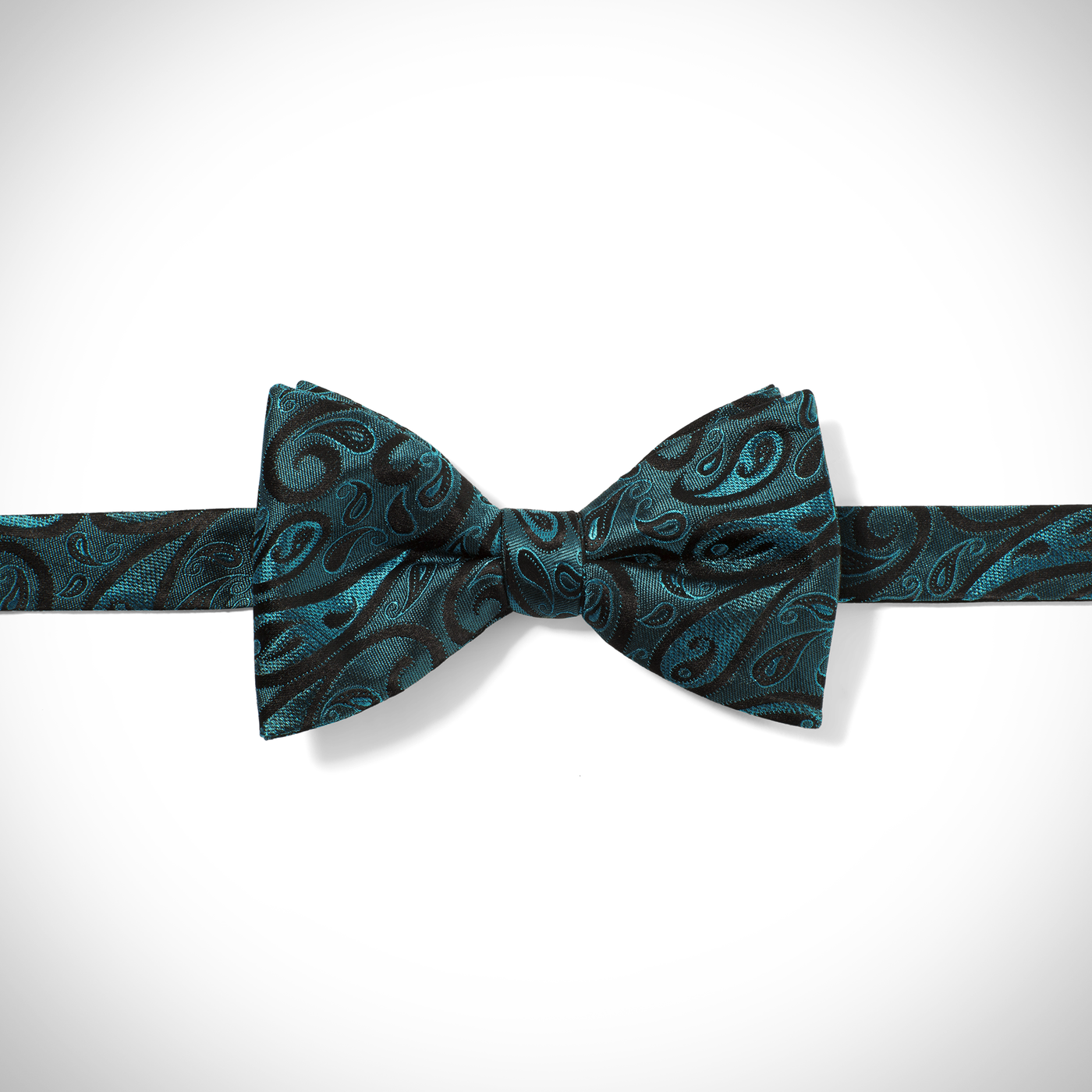 Emerald Modern Paisley Pre-Tied Bow Tie