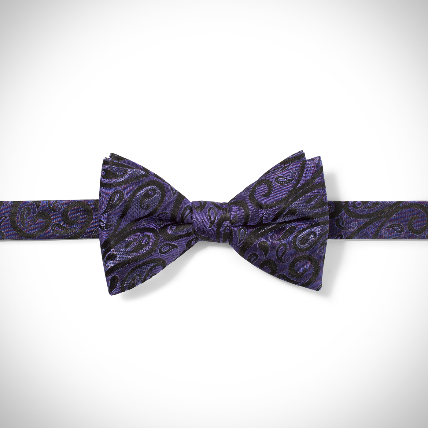 Purple Modern Paisley Pre-Tied Bow Tie