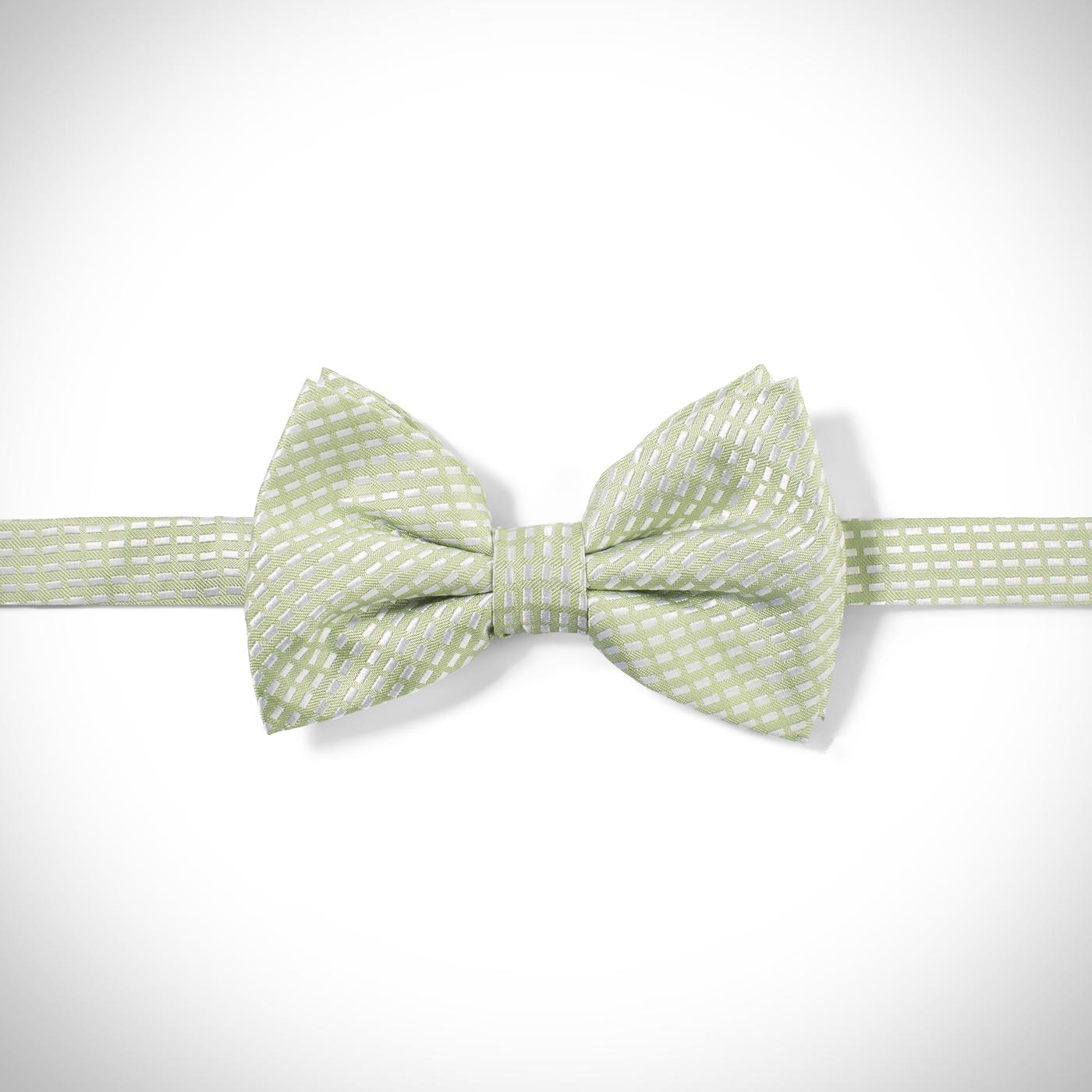 Green Diagonal Dobby Pre-Tied Bow Tie